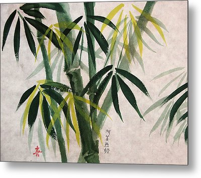 Metal Print featuring the painting Splendid Bamboo by Alethea McKee