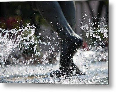 Metal Print featuring the photograph Sploosh by Stephanie Nuttall