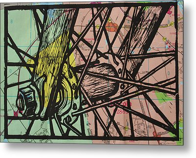 Spokes On Map Metal Print