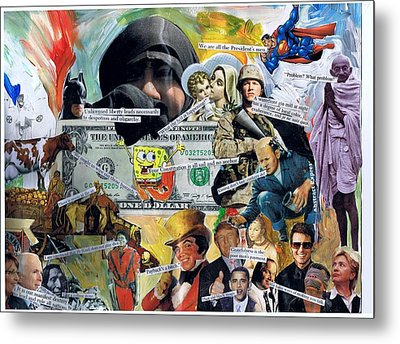 Sponge Bob Metal Print by Frank Zabohonski