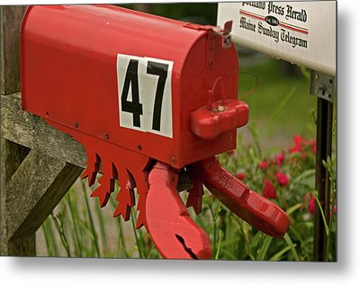 Sponge Bob's Mail Box  Metal Print by Paul Mangold