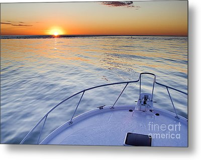 Sportfish Sunrise On The Atlantic Metal Print by Dustin K Ryan