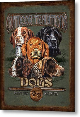 Sporting Dog Traditions Metal Print by JQ Licensing