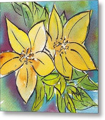 Spring Blooming Yellow Metal Print