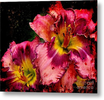Metal Print featuring the photograph Spring Blooms by Davandra Cribbie