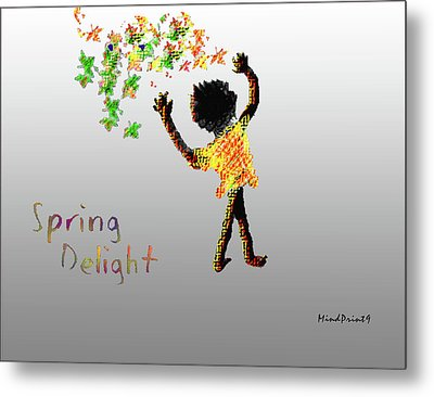 Metal Print featuring the digital art Spring Delight by Asok Mukhopadhyay