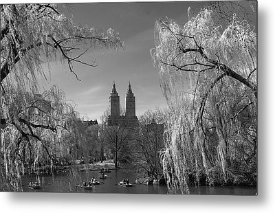 Spring In Central Park Metal Print by Yelena Rozov