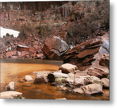 Spring In Zion Park  Metal Print