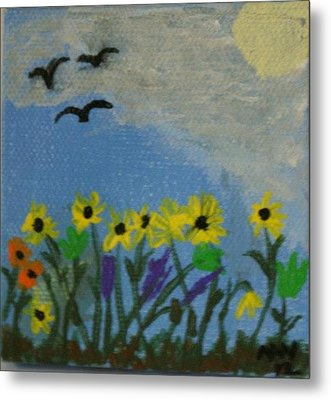 Spring Into Spring Metal Print by Maria  Wall