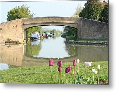 Spring On The Oxford Canal Metal Print by Linsey Williams
