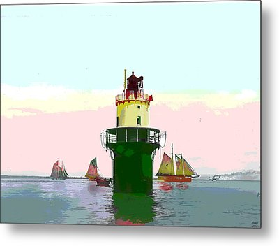 Spring Point Light Metal Print by Charles Shoup