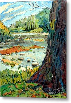 Spring River Eel Metal Print by Charlie Spear