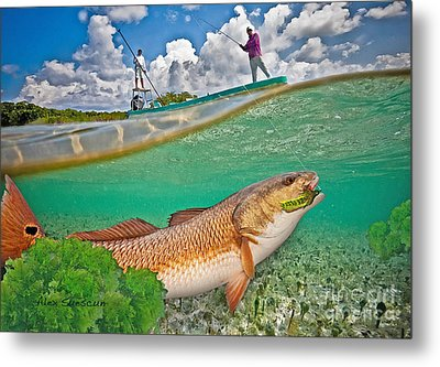 Spring Tide Red Metal Print by Alex Suescun