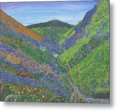 Spring Time In The Mountains Metal Print by Lori  Theim-Busch