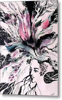 Metal Print featuring the painting Spring by Valentina Plishchina