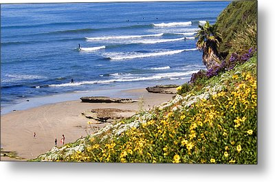 Springtime At Swamis Metal Print by Ron Regalado