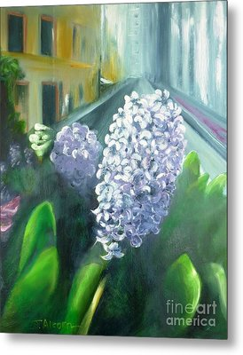 Springtime In New York Metal Print by Therese Alcorn