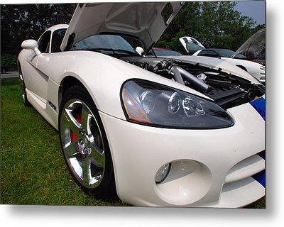 Metal Print featuring the pyrography Ssss 2009 Dodge Viper by John Schneider