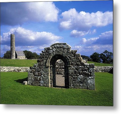 St Brigids Church, Inis Cealtra Holy Metal Print by The Irish Image Collection