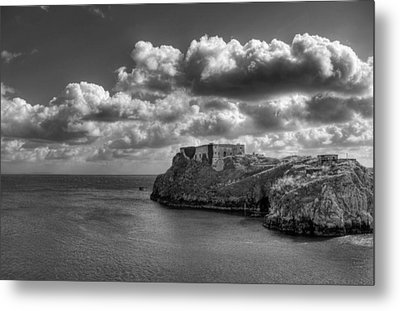 St Catherines Rock Tenby Metal Print by Steve Purnell