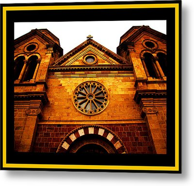 Metal Print featuring the photograph St. Francis Basilica Cathedral by Susanne Still
