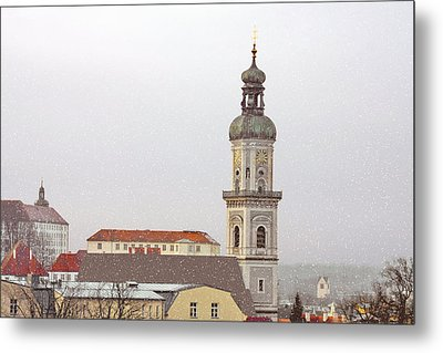 St. George In Snow - Freising Bavaria Germany Metal Print