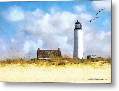 Metal Print featuring the photograph St. George Island Lighthouse by Rhonda Strickland