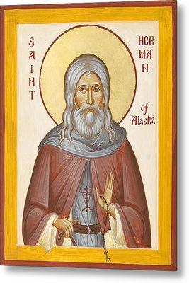 St Herman Of Alaska Metal Print by Julia Bridget Hayes