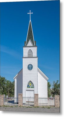 Metal Print featuring the photograph St. John The Evangelist Catholic Church by Fran Riley