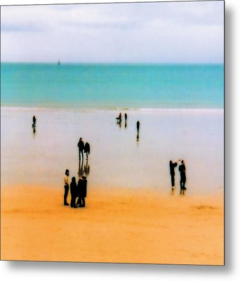 St Malo Beach Metal Print by Nigel Chaloner