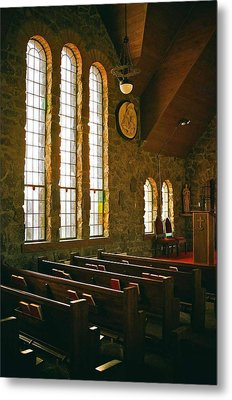 Metal Print featuring the photograph St Malo Church by David Pantuso