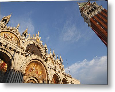 St. Markss Basilica And Campanile Off Metal Print by Trish Punch