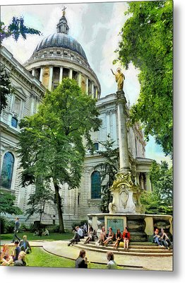 St Paul Is Giving His Blessing Metal Print by Steve Taylor