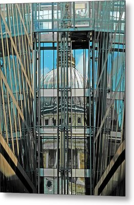 St Pauls Compressed Metal Print