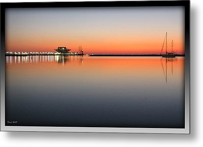 St. Pete Sunrise Metal Print by Farol Tomson