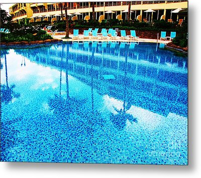 Metal Print featuring the photograph St. Regis Pool by Michele Penner