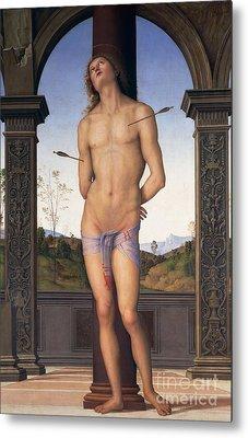 St Sebastian Metal Print by Pietro Perugino
