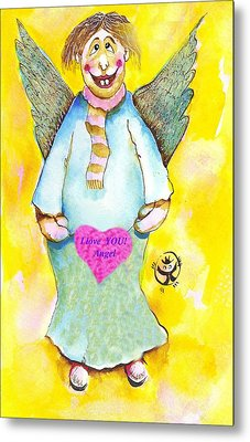 St. Valentine's Angel Metal Print by Ion vincent DAnu