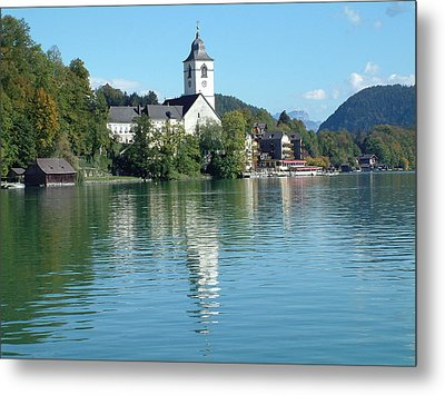 Metal Print featuring the photograph St Wolfgang Austria by Joseph Hendrix