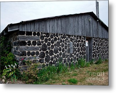 Metal Print featuring the photograph Stacked Block Barn by Barbara McMahon