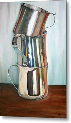 Stacking Them Up Metal Print by Amy Higgins