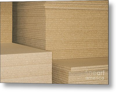 Stacks Of Plywood Metal Print by Shannon Fagan