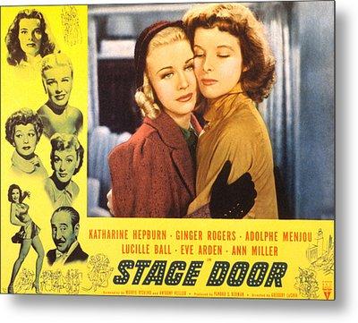 Stage Door, Ginger Rogers, Katharine Metal Print by Everett
