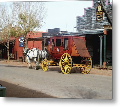Stagecoach Metal Print by Helen Haw