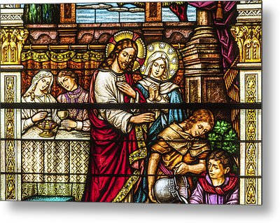 Stained Glass Metal Print by Anthony Citro