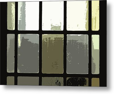 Stained Glass Doors 2 Metal Print by Peter  McIntosh