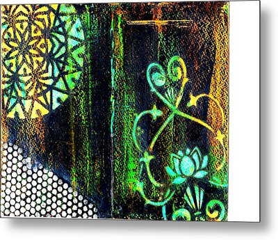 Stained Glass Metal Print by Jann Sage