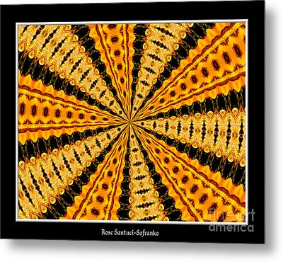 Stained Glass Kaleidoscope 37 Metal Print by Rose Santuci-Sofranko