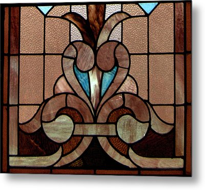 Stained Glass Lc 06 Metal Print by Thomas Woolworth