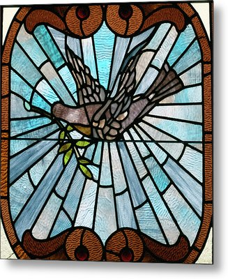 Stained Glass Lc 14 Metal Print by Thomas Woolworth